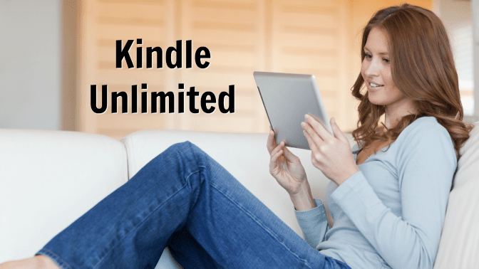 Get Rid of Books, Woman Reading Electronic Book, Kindle Unlimited