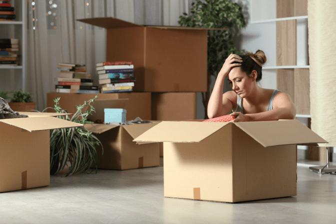 Grief Hoarding to Shoebox Memories, Sad Woman Opening Box