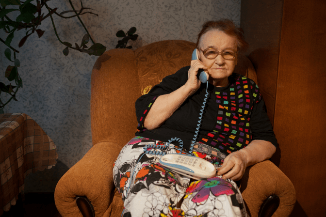 Grief Hoarding to Shoebox Memories, Woman On Phone