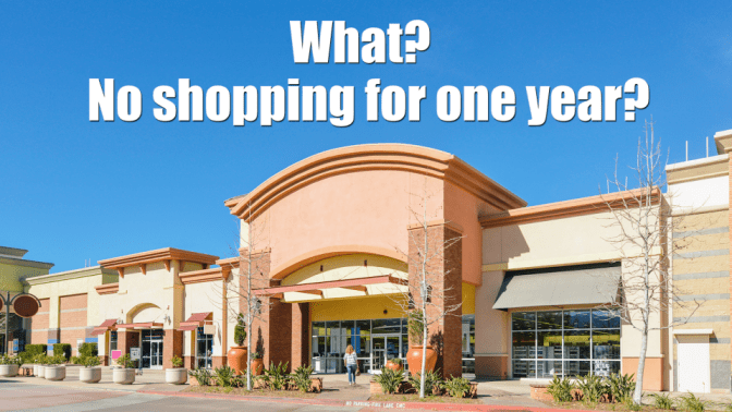 I Didn't Go Shopping for One Year, Shopping Center, What, No Shopping for One Year